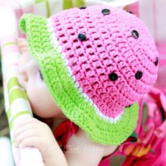 Watermelon Hat - $23.50 : Funky Baby Hats, Custom Handmade Hats for Kids and Babies, Animal Hats for Teens, Photography Props