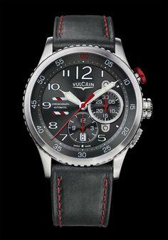 Vulcain - Aviator Instrument Chronograph #bremont Swiss Watchmakers #horlogerie #vulcain @calibrelondon