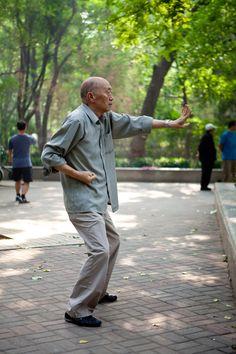 Tai chi practice in China