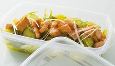 Ensalada de judías verdes y Salmón Noruego fresco.  Una propuesta ligera para llevarte tu salmón a cualquier parte.