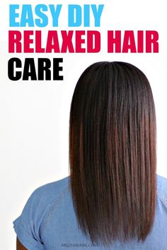 You can take care of your relaxed hair at home just like the professional but you need this to help along the way. #relaxedhair Hair Growth Progress, Hair Growth Cycle, Hair Growth Tips, Natural Hair Mask, How To Grow Natural Hair, Grow Long Hair, Relaxed Hair Growth, Natural Hair Treatments, Breaking Hair