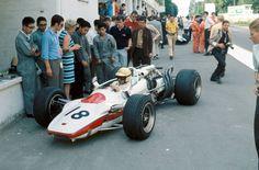 1968 GP Francji (Rouen) Honda RA302 (Jo Schlesser)