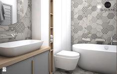 APARTAMENTY POKAZOWE 2 BRZOZOWA LEGIONOWO - Średnia łazienka w bloku bez okna, styl skandynawski - zdjęcie od ELITE HOME