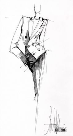 famous fashion designers illustrations sketches - Google Search