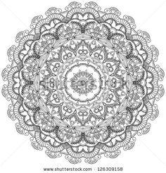 mandala art black and white - Google Search
