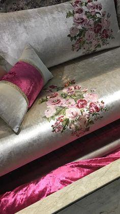 Salon marocain gris rose – Amenda decor