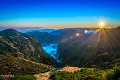 Sunset on Madeira island seen from Pico do Arieiro