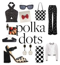 """""""polka dots"""" by mia7113 ❤ liked on Polyvore featuring Dolce&Gabbana, Monse, Charlotte Olympia, Yves Saint Laurent, Kate Spade and Oscar de la Renta"""
