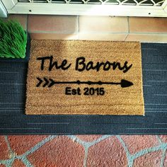 Need a house warming gift? Contact us and we will make one for you just like this one.  #afterpay #afterpayobsession #uniqueobsession #australiawide #australiawideshipping #supportsmallbusiness #lmbdw #queenslandbusiness #personaliseddoormats #familyname #housewarming #housewarminggift #birthdaypresent #birthdaygift #christmasgift #fathersday #friendshippresent #frontdoorentrance #frontdoordecor #fronthomedecor #homemadegift #homemadeinspiration Front Door Entrance, Front Door Decor, Friendship Presents, Home Decor Australia, Birthday Presents, Homemade Gifts, Accent Decor, Are You The One, House Warming