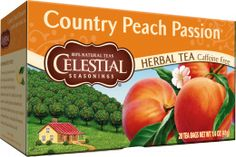 My new favorite creation--a BIG glass of crushed ice, with one peach tea bag--fill it up with water--and keep refilling again & again.  SO, so good.  No sugar needed.  ~~Country Peach Passion Herbal Tea