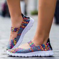 Wish | Women casual running shoes lady's sneaker mesh fabric shoes