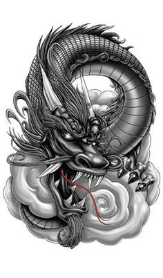 Grey Dragon-Giant Boys Temporary Tattoos