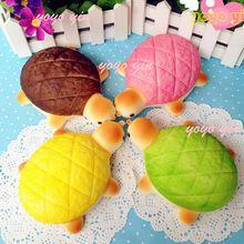 New 14CM Jumbo Super Squishy Turtle Tortoise Bread Bun Squshy Charm/Key Chain(China (Mainland))