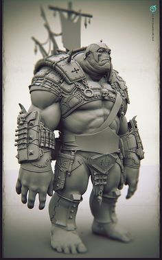 Some Early Work in Progress and ORCS sketches/blockouts,I will post more later. Zbrush Character, Character Modeling, 3d Character, Character Concept, Concept Art, Character Design, 3d Modeling, Statues, Zbrush Models