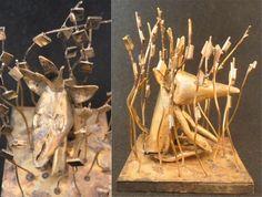 sculpture by milkaone laiton soudé à l'argent retrouvez mes créations sur https://www.facebook.com/onemilka