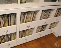 My husband needs a place for the LPs, his wife needs it to not look like a grungy record store...perfect solution! Now if I could just talk Seth into building it...