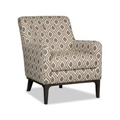 Sam Moore Vander Club Chair Finish: Espresso, Upholstery: 2710 Metal