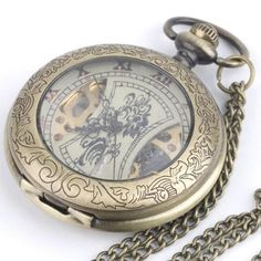 Pocket & Fob Watches Punk Skull Quartz Pocket Watch Retro Bronze Ghost Necklace Pendant Clock Toys Chain Jewelry Souvenir Gift For Men Women Children Lustrous
