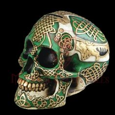 A bit of new Celtic knotwork on probably a replica skull.