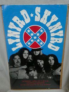 Vintage Rare Lynyrd Skynyrd concert poster RARE never opened still in plastic!!!