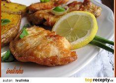 Kuřecí plátky v majolkovém kabátku recept - TopRecepty.cz Tandoori Chicken, Chicken Recipes, Menu, Ethnic Recipes, Pizza Recipes, Menu Board Design