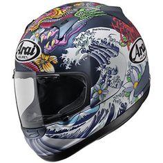 Beautiful design on this crash helmet.  Arai QV Pro - Oriental Thumb 0