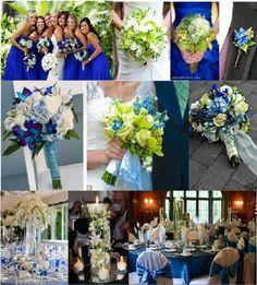 cobalt blue wedding centerpieces | COBALT blue centerpieces for weddings