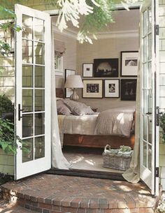 Cottage Living   bedroom color - Love the airiness and comfy feel to this!