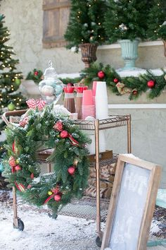 Christmas Decorating, Outdoors or In: A Holiday Hot Cocoa Stand