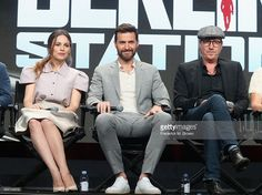 Actors Mina Tander, Richard Armitage and Rhys Ifans speak onstage during the 'Berlin Station' panel discussion at the EPIX portion of the 2016 Television Critics Association…