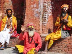De heilig mannen bij Pashaputinath