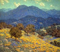 Irvine Museum | California Rhapsody Exhibit Granville Redmond ( 1871-1935 ) Poppies and Lupines 1925
