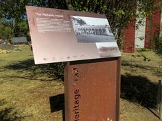 Dunkeld Heritage Trail - Challis Design Corten Steel, Signage Design, Built Environment, Interesting History, Great Lakes, Steel Frame, Digital Prints, Trail, Surfing