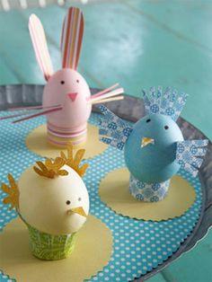 ostergeschenke basteln - eier  bemalen und dekorieren
