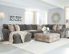 Microfiber Chaise Sectional - Foter