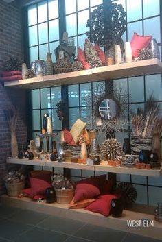full height visual merchandising color stories at West Elm - Hallandale Beach FL 2011