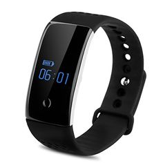 Diggro S1 Bluetooth Smart Bracelet Watch Wristband with Heart Rate and Blood Oxygen Monitor Sport Fitness Tracker Sleep Monitor for Android iOS Black ** Visit the image link more details.