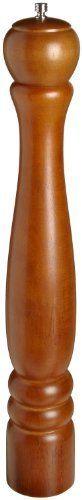 "Adcraft PEP-18 18"" Walnut Finish Wood Pepper Mill by Adcraft. $25.04. Luxurious walnut finish wood pepper mill. Forged steel mechanism. 18"" Length."