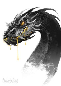 masterhalfling: Smaug likes gold. yum! This is going on my originally owned gold 73 454 corvette's new paint job