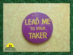 Lead Me To Your Taker Oversize Vintage Pinback by KressHillVintage, $10.50