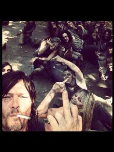 not sure if this is HEAVEN or hell....either way....TAKE ME WITH YOU NORMAN lol~  LOVE me some Daryl!!
