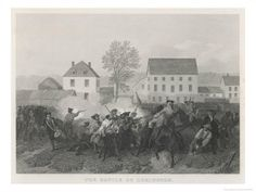 At Lexington Massachusetts Minutemen Resist British Marching to Seize Stores at Concord