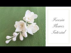 How to make a FREESIA FLOWER   Ilona Deakin at Tiers Of Happiness - YouTube