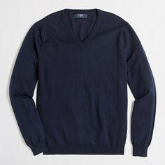 J.Crew Factory - Factory slim merino V-neck sweater - Large