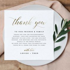 Printable Thank You Letter Template, Gold Wedding Table Thank You Card, Editable Welcome Thank You . - Printable Thank You Letter Template, Gold Wedding Table Thank You Card, Editable Welcome Thank You - Thank You Letter Template, Notes Template, Letter Templates, Table Template, Creative Wedding Favors, Unique Wedding Favors, Wedding Ideas, Wedding Gifts, Wedding Venues