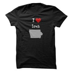 Funny T-shirts I May Live in California But I'll Always be a Iowa girl