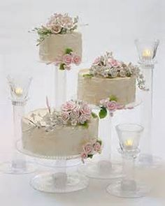 Wedding cakes 5tier turqouise seperate stands - Yahoo Image Search Results