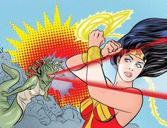 Wonder Woman Vs Medusa by Mike Allred