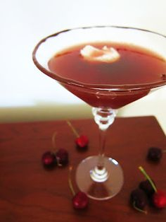 A #vegan Black Forest Martini with a dollop of coconut cream sounds like it would make for a VERY happy hour.