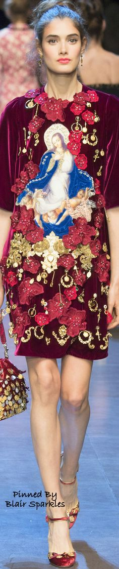SPRING RTW 2016 (MFW) Dolce & Gabbana ~ ♕♚εїз   BLAIR SPARKLES  